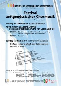 Kammerchor 15. Oktober 2011