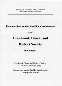 Kammerchor 2. November 1996