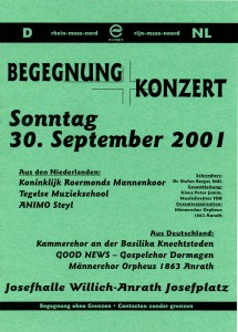 Kammerchor 30. September 2001
