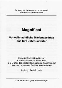 Kammerchor 21. Dezember 2002