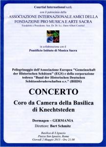 Kammerchor 2. Mai 2013